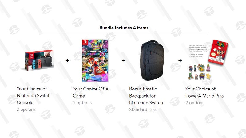 Nintendo Switch Bundle (Console, Game, Pins and backpack) | $330| Walmart
