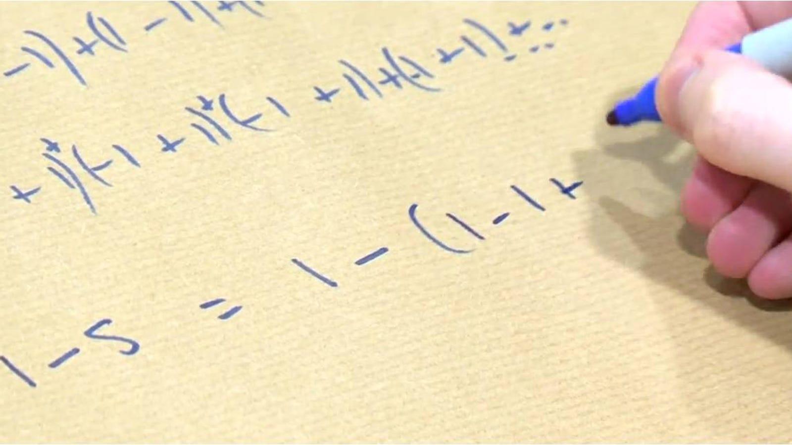 El truco matemático que te tendrá horas pensando