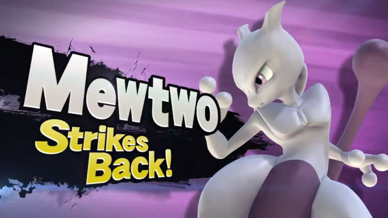 Illustration for article titled Mewtwo Will Be Available in Smash Bros. On April 28th