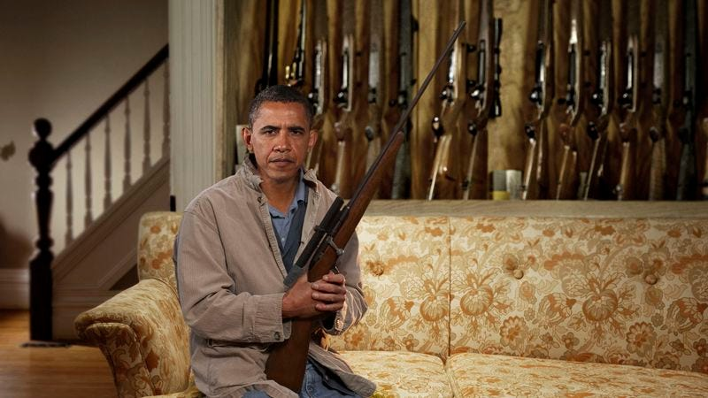 President Barack Obama says the federal government is trying to destroy the Second Amendment.