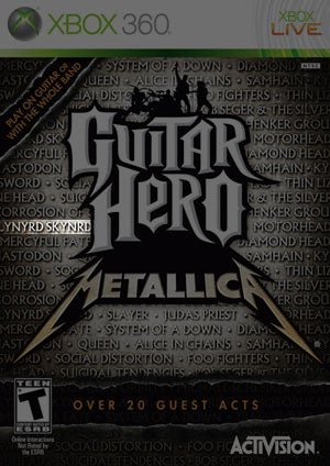 Illustration for article titled Guitar Hero: Metallica Misspells Band Name