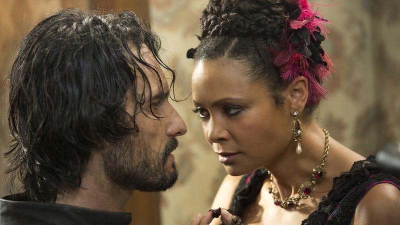 Rodrigo Santoro and Thandie Newton in Westworld (Photo: John P. Johnson/HBO)