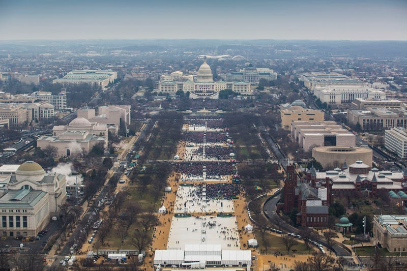The National Mall at 11:56 am on Inauguration Day 2017. Photo: National Park Service