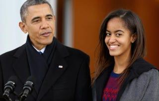 President Barack Obama and Malia Obama last year.Chip Somodevilla/Getty Images