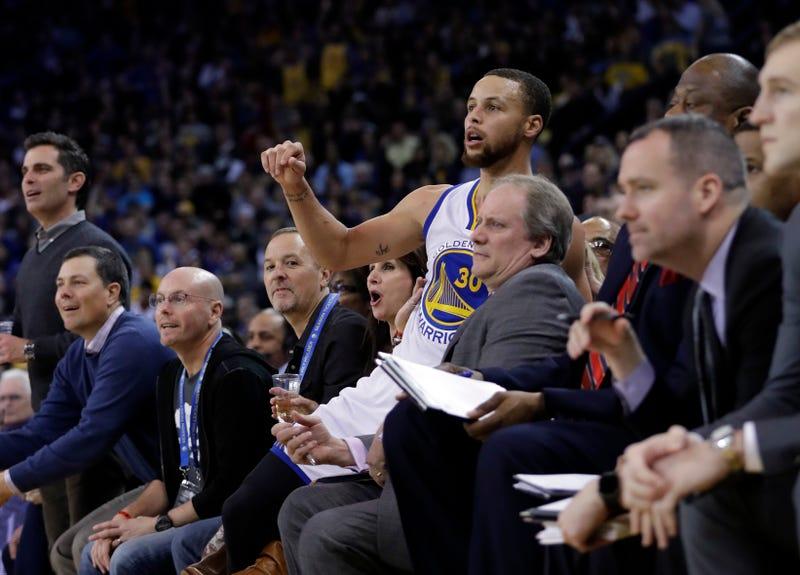 Steph's hitting a three in this photo. Marcio Jose Sanchez/AP Images