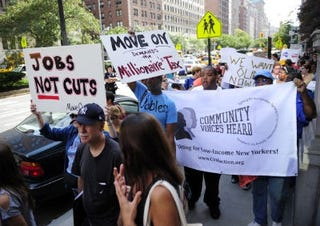 Occupy Wall Streets protesters in New York (Getty Images)