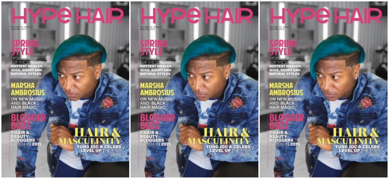 Yung Joc on the cover of Hype Hair's Jan/Feb issue.
