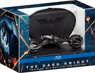 Illustration for article titled Limited Edition Dark Knight Blu-ray With Bat-Pod Display Case