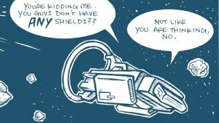 "Illustration for article titled ""Drive"" is a goofy webcomic war over an interstellar engine"