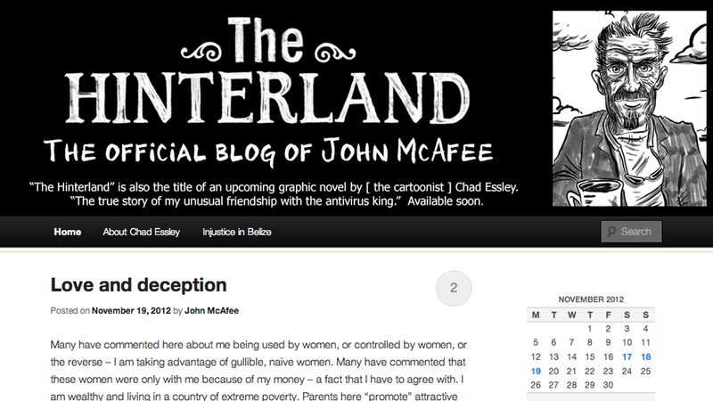 Illustration for article titled John McAfee Started a Blog About John McAfee