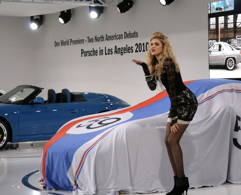 Illustration for article titled The Porsche Girls: Six Models To Unveil One Car
