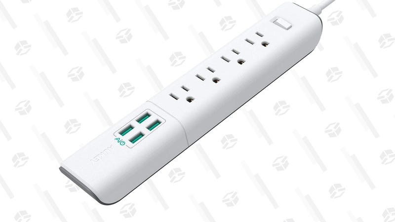 Aukey Power Strip (4 Outlets and 4 USB Ports) | $14 | Amazon | Use code DKGTHX5H