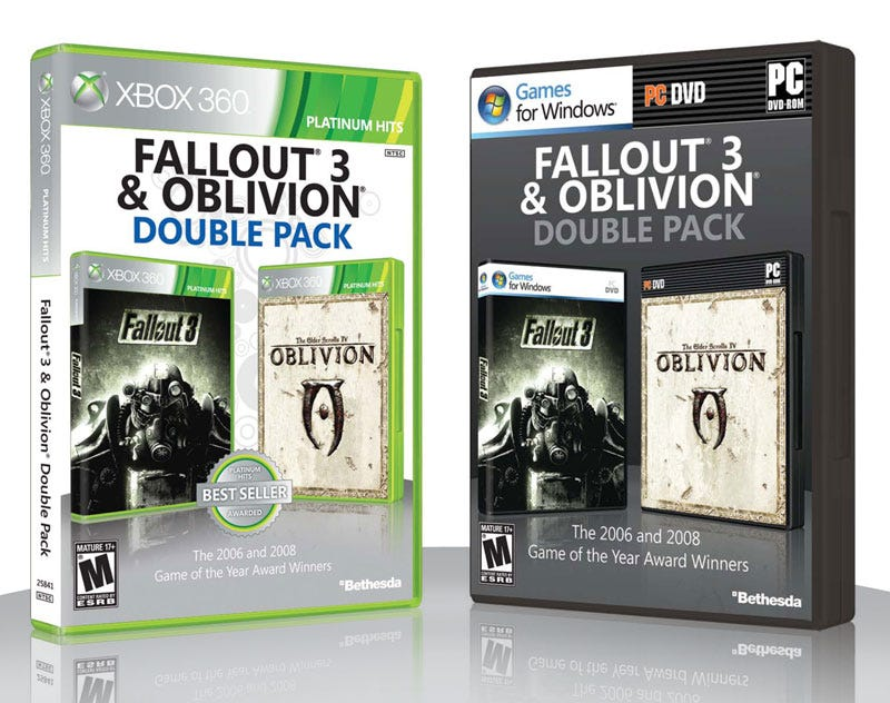 Illustration for article titled Oblivion, Fallout Get Combined Release in April—but Not on PS3