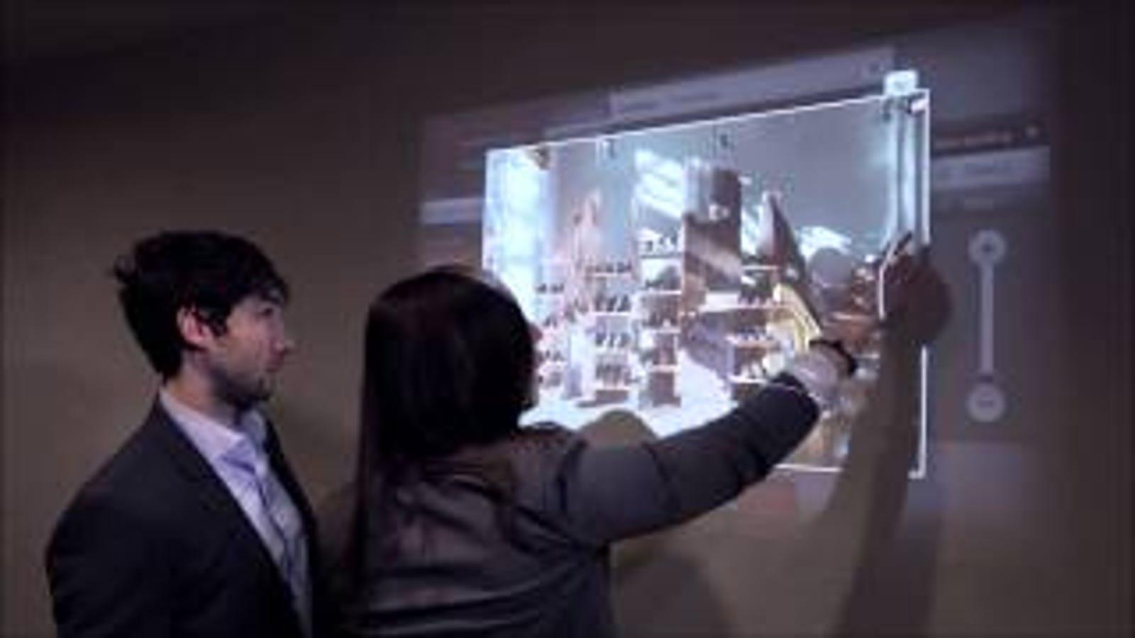 Esta aplicación para Kinect hace táctil la imagen de un proyector