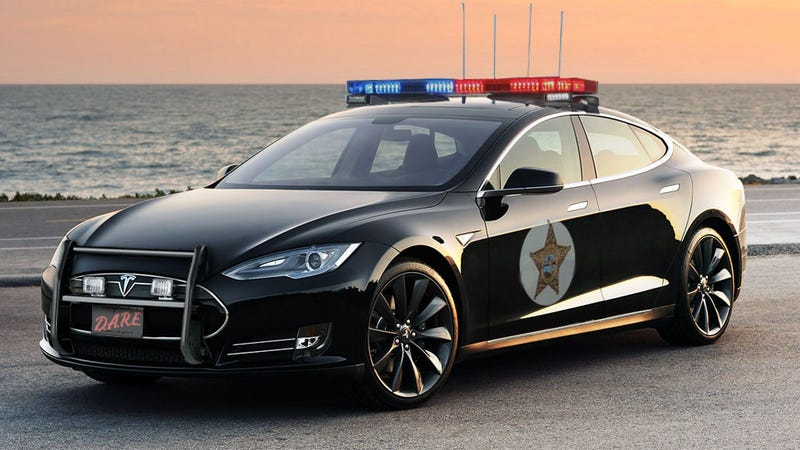 Illustration for article titled Ludicrously Wealthy Town Wants Tesla Police Cars