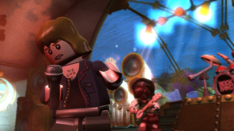 Illustration for article titled Lego Rock Band Announced, Looks Slightly Less Interesting than Dreamy Concept