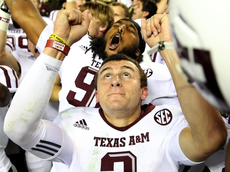 """Illustration for article titled Texas A&M And Johnny Manziel Working Together To Trademark """"Johnny Football"""""""