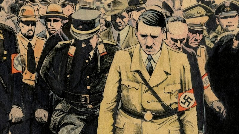 Illustration for article titled Exclusive D&Q preview: A dictator rises in Shigeru Mizuki's Hitler