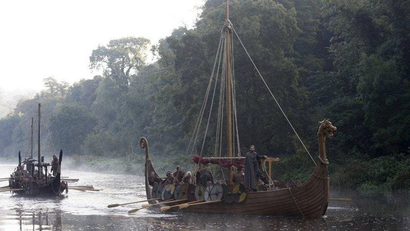 Like this, but funny and wth iPhones: The History Channel's Vikings