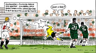 Illustration for article titled After Photography Ban, Soccer Game Covered By Cartoonist