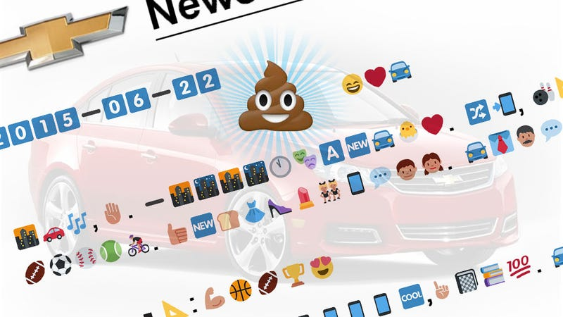 Illustration for article titled Chevy Releases All-Emoji Press Release: We Translate It