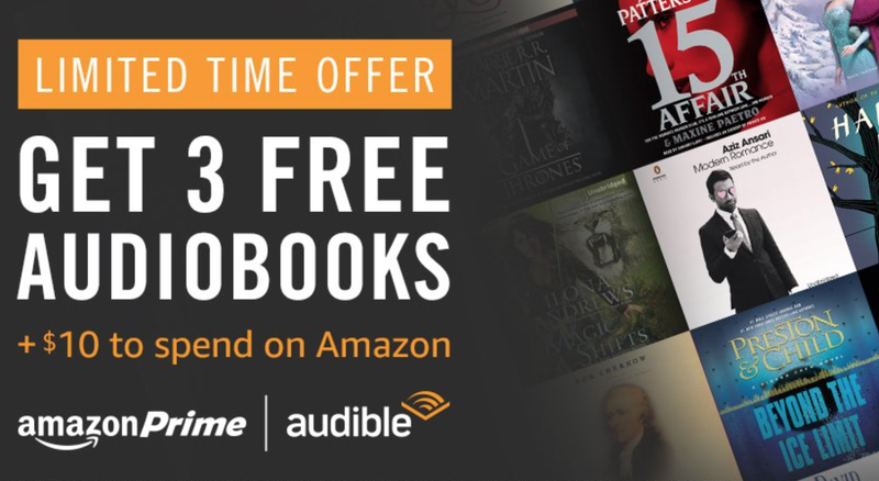Three Month Free Trial + $10 Amazon Credit, Prime members only