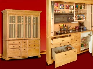 While The Average American Kitchen Has Expanded To Be A Stainless Steel And  Granite Clad Football Stadium, The Armoire Kitchen Is Refreshingly  Simplistic.