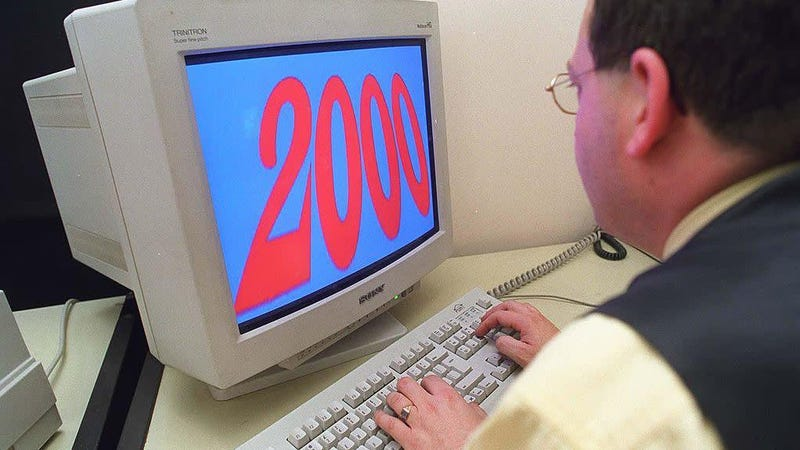 Illustration for article titled The anxiety of the late '90s is alive on the Y2K.Gov website archive
