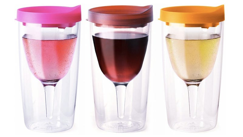 Illustration for article titled Spill-Proof Sippy Cup Wine Glasses Solve Your Drinking Problem