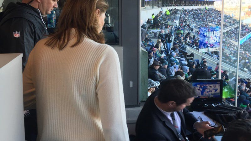 Eagles ejected Jeff McLane from the press box