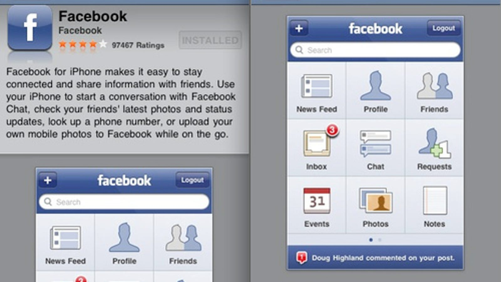 Facebook 3 0 iPhone App Now Available