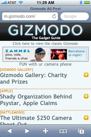 Illustration for article titled How Are You Liking Our Mobile Gizmodo Site?