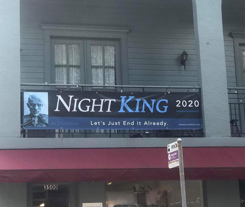 Jarret James Slonaker via Sonali Fernando, who's the early favorite for the Night King's campaign manager