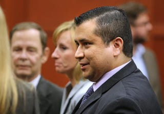 George Zimmerman leaves the courtroom a free man after being found not guilty on July 13, 2013, the 25th day of his trial at the Seminole County Criminal Justice Center in Sanford, Fla. Zimmerman was charged with second-degree murder in the 2012 shooting death of Trayvon Martin.Joe Burbank-Pool/Getty Images