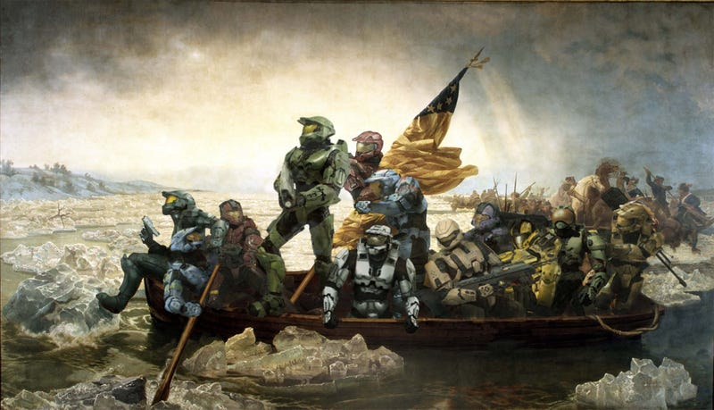 Illustration for article titled Master Chief Crosses The Delaware