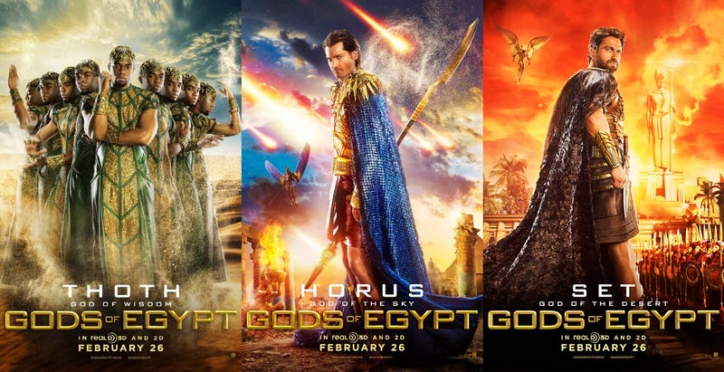 Illustration for article titled What Did the Ancient Egyptians Do to Deserve These Gods of Egypt Posters?