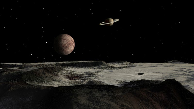 Illustration for article titled How the solar system's strangest moon, Iapetus, lost its rings