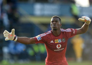 Senzo Meyiwa of the Pirates celebrates the second goal during a match between Bidvest Wits and Orlando Pirates at Bidvest Stadium Aug. 17, 2014, in Johannesburg, South Africa.Duif du Toit/Gallo Images/Getty Images