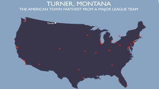 Illustration for article titled Turner, Montana, Pop. 192, Angrily Lashes Out Against Baseball Blogger And Geography