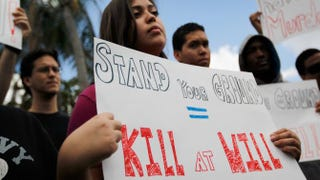 "Florida residents protest the state's ""Stand your ground"" laws in 2012.Joe Raedle/Getty Images"