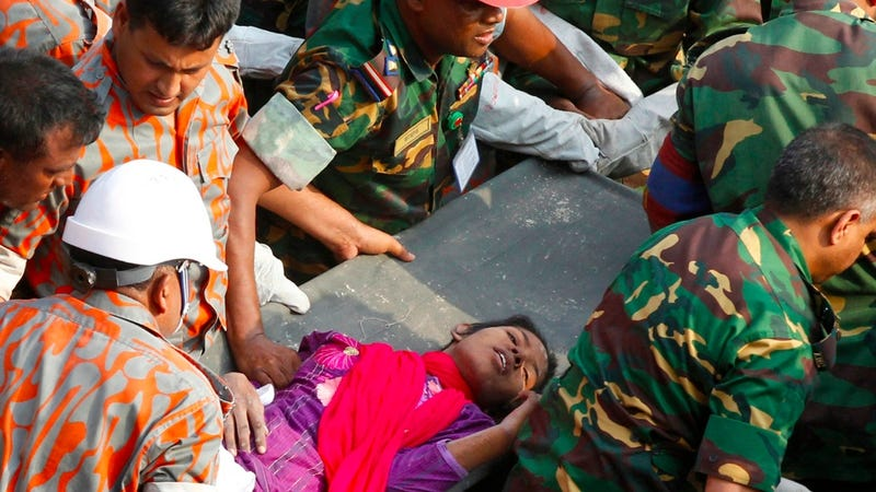 Illustration for article titled Woman Rescued From Bangladesh Rubble After Two Weeks