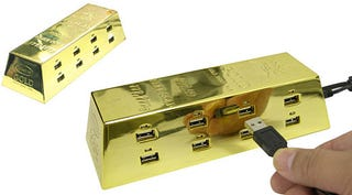 Illustration for article titled Thanko Solid Gold-ish USB OctoPort
