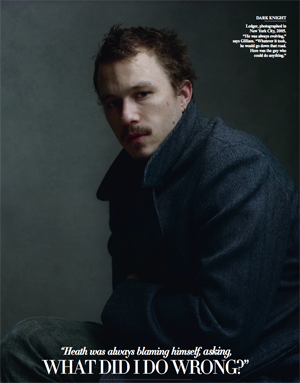 Illustration for article titled Vanity Fair Covers The Last Days Of Heath Ledger