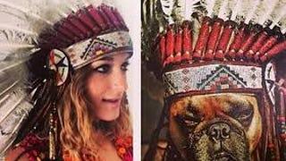 Phantograms Sarah Barthel Apologizes for Wayne Coyne's Dog in a Headdress Photo