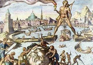 Illustration for article titled Colossus of Rhodes to be Rebuilt as Colossal Light Sculpture