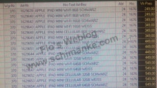 Illustration for article titled Report: iPad Mini Prices Leak and Point to Eight Different Models