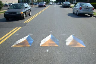 Illustration for article titled Philadelphia to Fake Out Drivers With 3D Speed Bump Images