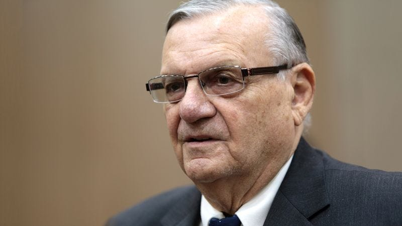 Illustration for article titled Joe Arpaio's Family Surprises Him With Detained Hispanic Motorist
