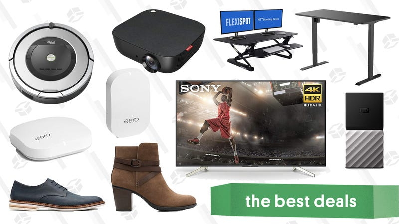 Illustration for article titled Tuesday's Best Deals: Philips Hue, Sony 4K TV, Clarks, Anker Projectors, and More