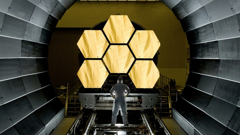 Illustration for article titled Watch the assembly of the James Webb Space Telescope — live via Webb cam!